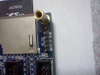 DE0上のRS232C端子