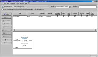FPGAへの書き込み(pofファイル、PROGモード時).